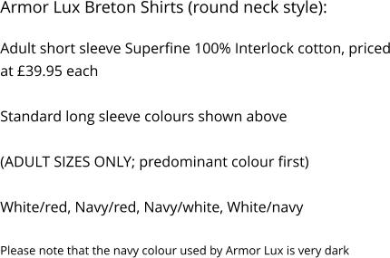 55bd88e0eafd48 Armor Lux Breton Shirts (round neck style)  Adult short sleeve Superfine  100% ...